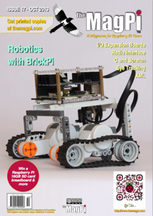The MagPi issue 17 cover