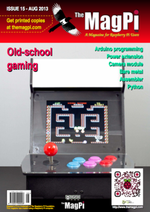 The MagPi issue 15 cover