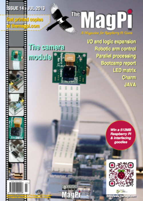 The MagPi issue 14 cover