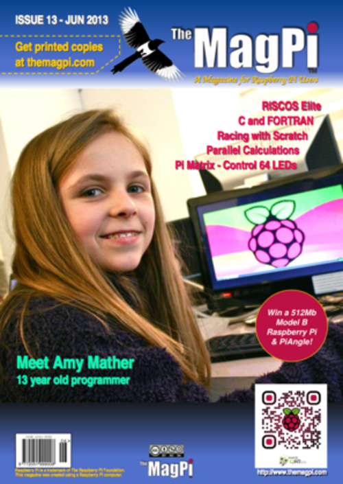 The MagPi Issue 13 cover