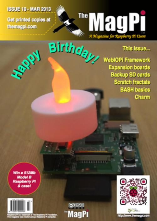The MagPi issue 10 cover
