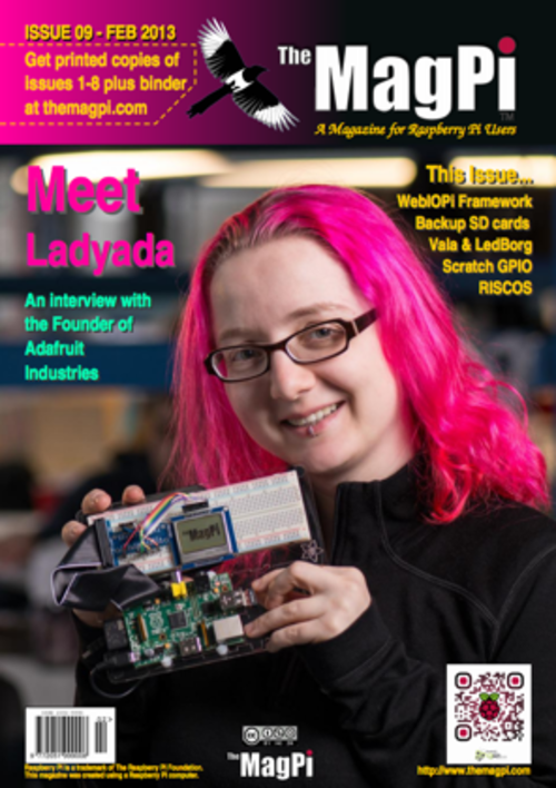 The MagPi issue 9 cover