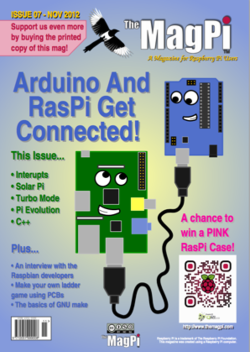 The MagPi issue 7 cover