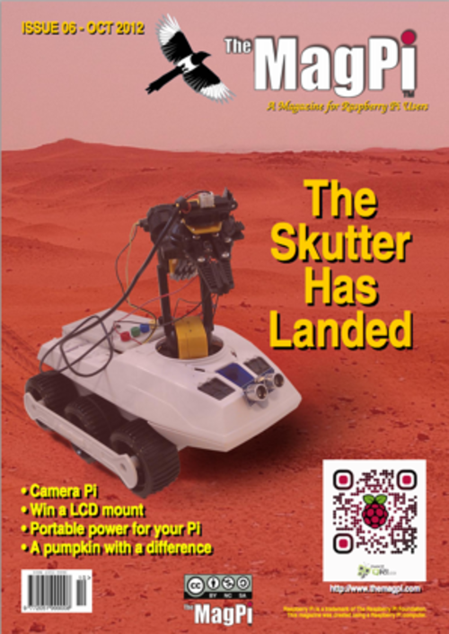 The MagPi issue 6 cover