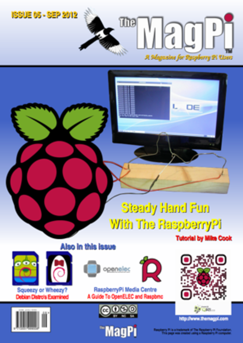 The MagPi issue 5 cover