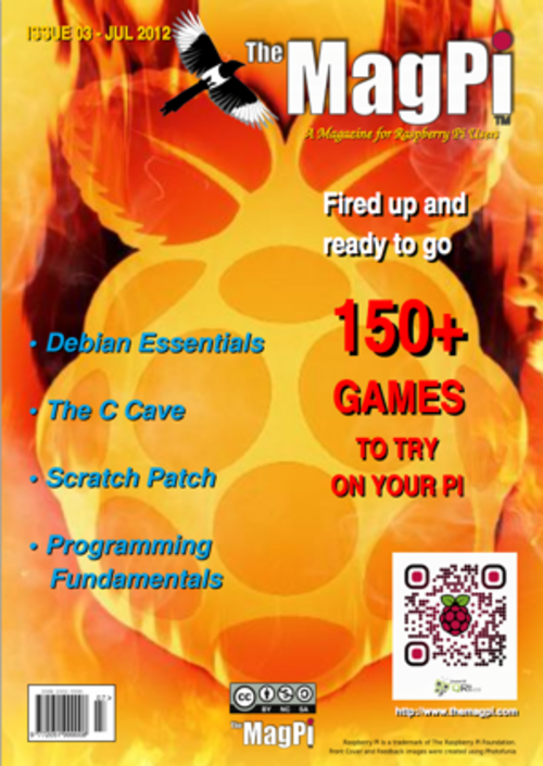 The MagPi issue 3 cover