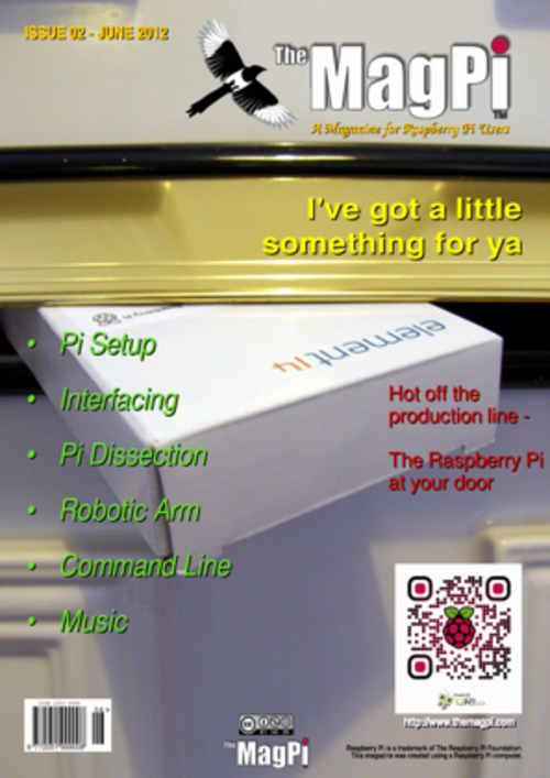 The MagPi issue 2 cover