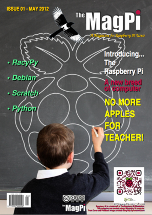 The MagPi issue 1 cover