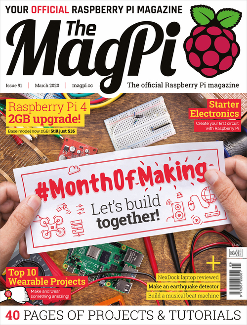 The MagPi issue 91 cover